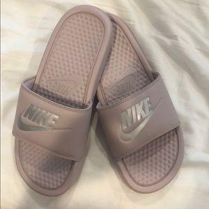 Nike Shoes - Nike Lilac Color Slides!